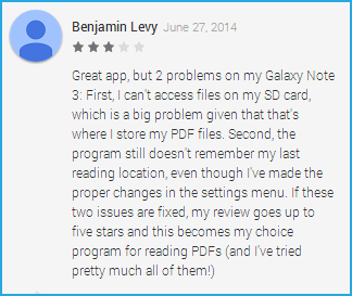 Google Play Reviews - Xodo PDF Reader & Annotator - A dedicated and responsive team